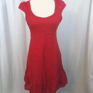 Anthropologie mauve vintage cotton dress sz  6
